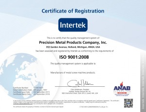 Pewcision-Metal-ISO-Certificate