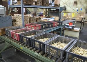 Precision Metal packaging area